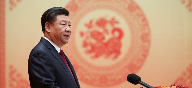 2月14日,中共中央、国务院在北京人民大会堂举行2018年春节团拜会。中共中央总书记、国家主席、中央军委主席习近平发表重要讲话。新华社记者 鞠鹏 摄
