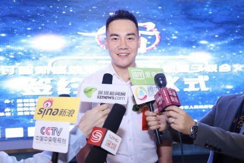 4.深圳壹订智品牌策划董事长李耀泽接受媒体采访 毛志亮 摄