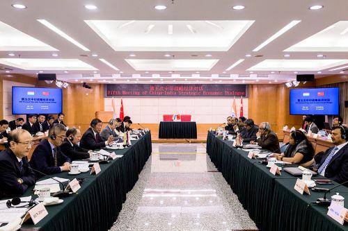第五次中印战略经济对话会议现场。记者苗露 摄