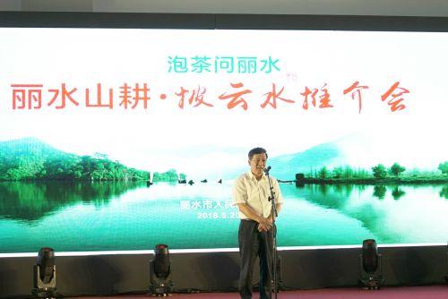"""在第二届国际茶叶博览会期间,浙江省丽水举行了一场以""""泡茶问丽水""""为主题的水推介会。 徐冀 摄"""