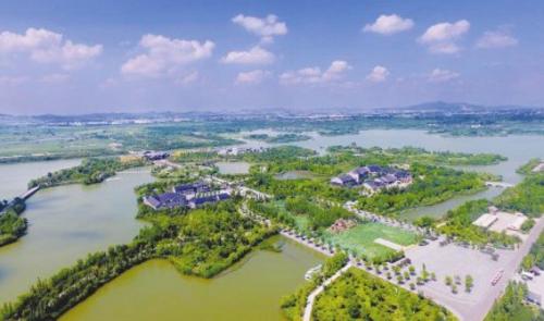潘安湖全景。徐州市贾汪区宣传部/供图