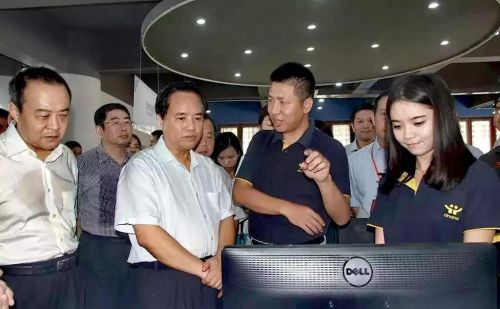 海南省委书记刘赐贵、常务副省长毛超峰等到爱哪哪企业调研互联网创业