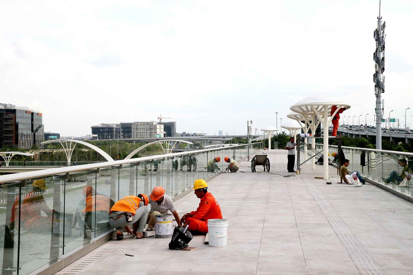 虹桥商务区进出口博览会工程 (10)