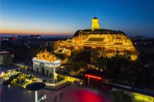 东林寺美到爆的夜景图 真的是太美了