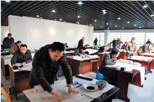资料图:第五届中国书法兰亭奖佳作奖现场面试