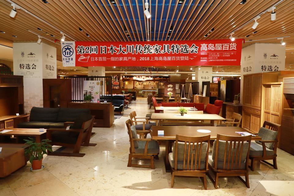 第二次日本大川传统家具特选会现场 毛志亮 摄