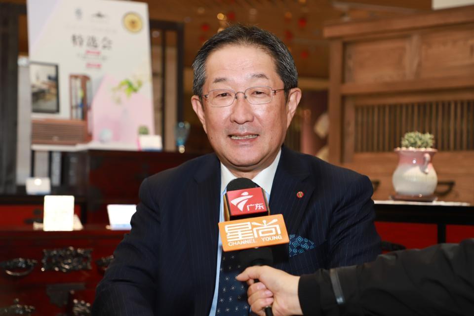 上海高岛屋百货有限公司董事长小森智明接受媒体采访 毛志亮 摄