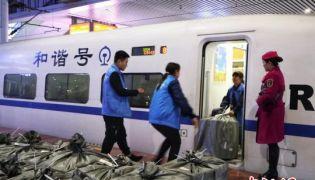 """重庆:高铁快运助力""""双十一""""物流"""