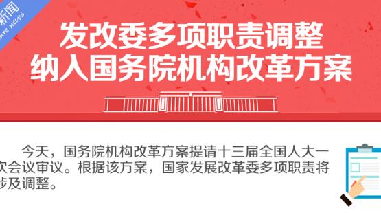 发改委多项职责调整纳入国务院机构改革方案