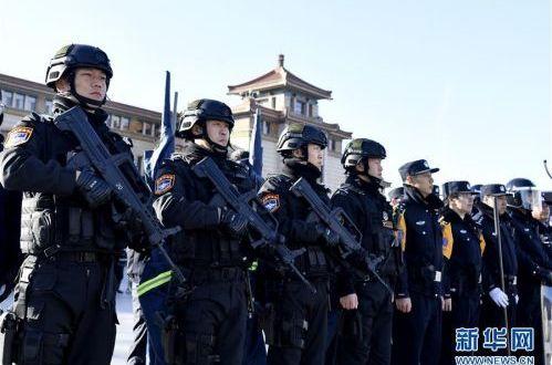 北京铁路公安系统举行春运安保演习
