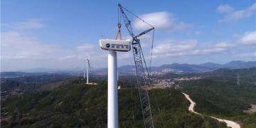 陕西渭南市单体容量最大风电项目并网发电