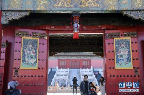 """(文化)(7)故宫博物院""""贺岁迎祥——紫禁城里过大年""""展览正式向公众开放"""
