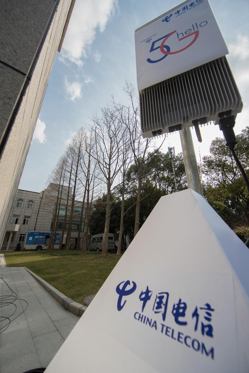 上海两会现场,电信的5G试点基站不可能登场亮相,提供5G服务。