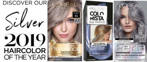 欧莱雅巴黎与时尚杂志《Vogue》联手推出今年流行发色-银色