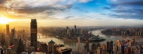 司棋 黄昏城下。简介:重庆两江交汇处