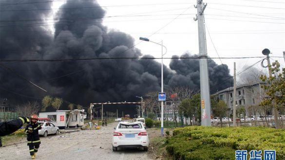 江苏响水发生爆炸事故 造成6人死亡30人重伤