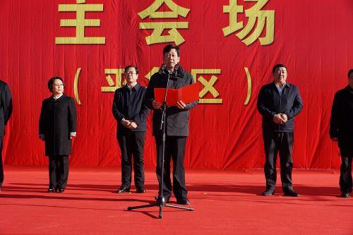 区委书记刘旋介绍平鲁区项目建设开复工情况