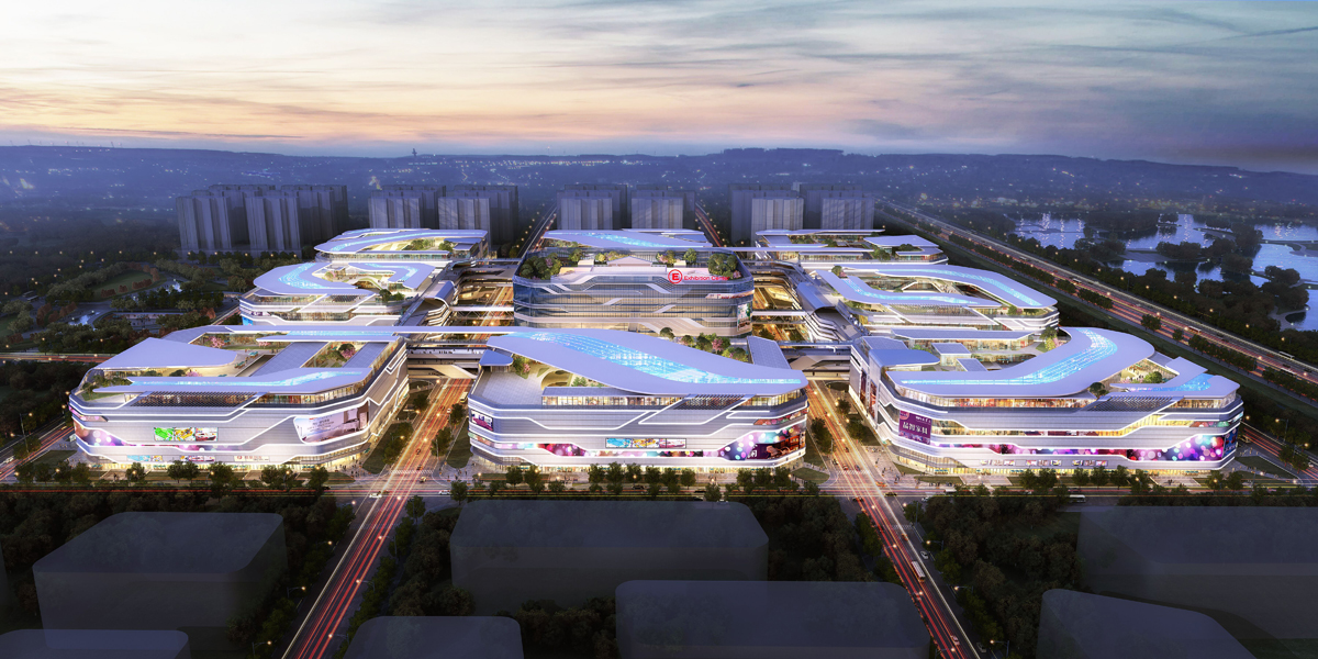 九星城项目紧邻虹桥交通枢纽,区位优势明显,占地面积16万平方米,总的建筑面积100万平方米。