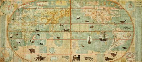 利玛窦 坤舆万国全图 168×382cm 南京博物院藏