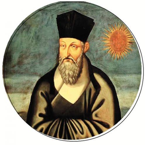 利玛窦(1552—1610)号西泰,又号清泰、西江。意大利马塞拉塔人。利玛窦出生于贵族家庭,1571年加入耶稣会。26岁时随意大利神父罗明坚前往印度传教。万历十一年(1583),途经澳门进入广东肇庆,并由此辗转于韶州、南昌、南京。在此期间利玛窦得以系统地学习中国传统文化,接触并结交了一批如叶向高、李贽、徐光启等明朝的士大夫,向他们传播天主教教义并介绍西方自然科学知识。万历二十九年(1601),利玛窦入京觐见,得到万历皇帝赏识并被允许留居北京。利玛窦在华28年,翻译、编撰了大量西方著作,如《天主实录》《几何原本》《坤舆万国全图》《同文算指》等。他是天主教在中国传教的最早开拓者,也是极大促进了东西方文化交流的科学家。
