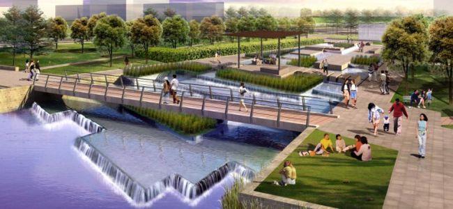 亚洲最大再生水湿地公园开建