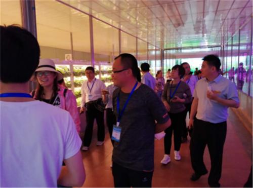 图为学员们在听专业人员讲解蔬菜种植新技术。供图:吴连军