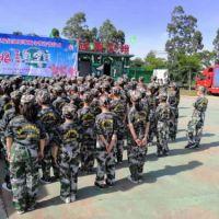 海南科教防灾减灾训练基地让学生体验军训