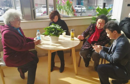 图为由北京爱侬养老服务股份有限公司负责运营的石景山黄南苑社区养老服务驿站。资料图片