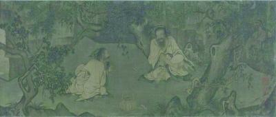 《采薇图》卷 局部(国画) 李唐