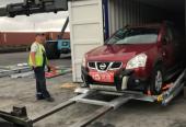 中国首批出口二手车由欧洲买家正式完成提车