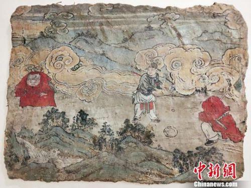 元代壁画《捶丸图画壁》 杨佩佩 摄