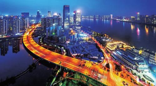 湘江新区夜景。湖南湘江新区管委会/供图