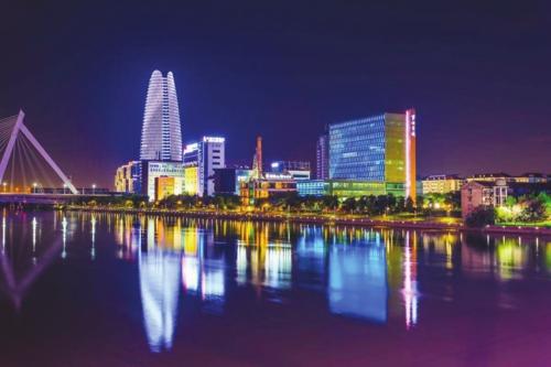 宁波三江口夜景
