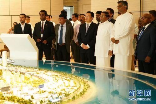(国际·图文互动)(1)斯里兰卡总统:把港口城项目建成斯经济社会发展新引擎