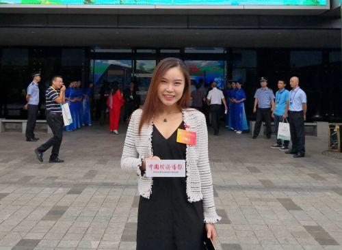 吕颖上接受中国经济导报记者采访。沈继平 摄