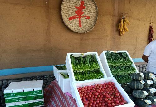 石嘴山特色富硒农产品展示。