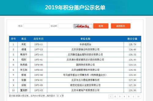 北京积分落户6007人入围官方解析什么人排名靠前