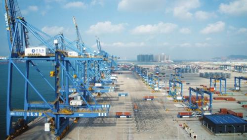 青岛前湾港自动化码头。青岛港供图