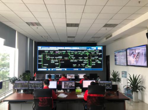 圖為山東省天然氣管道有限責任公司智能化控制平臺。