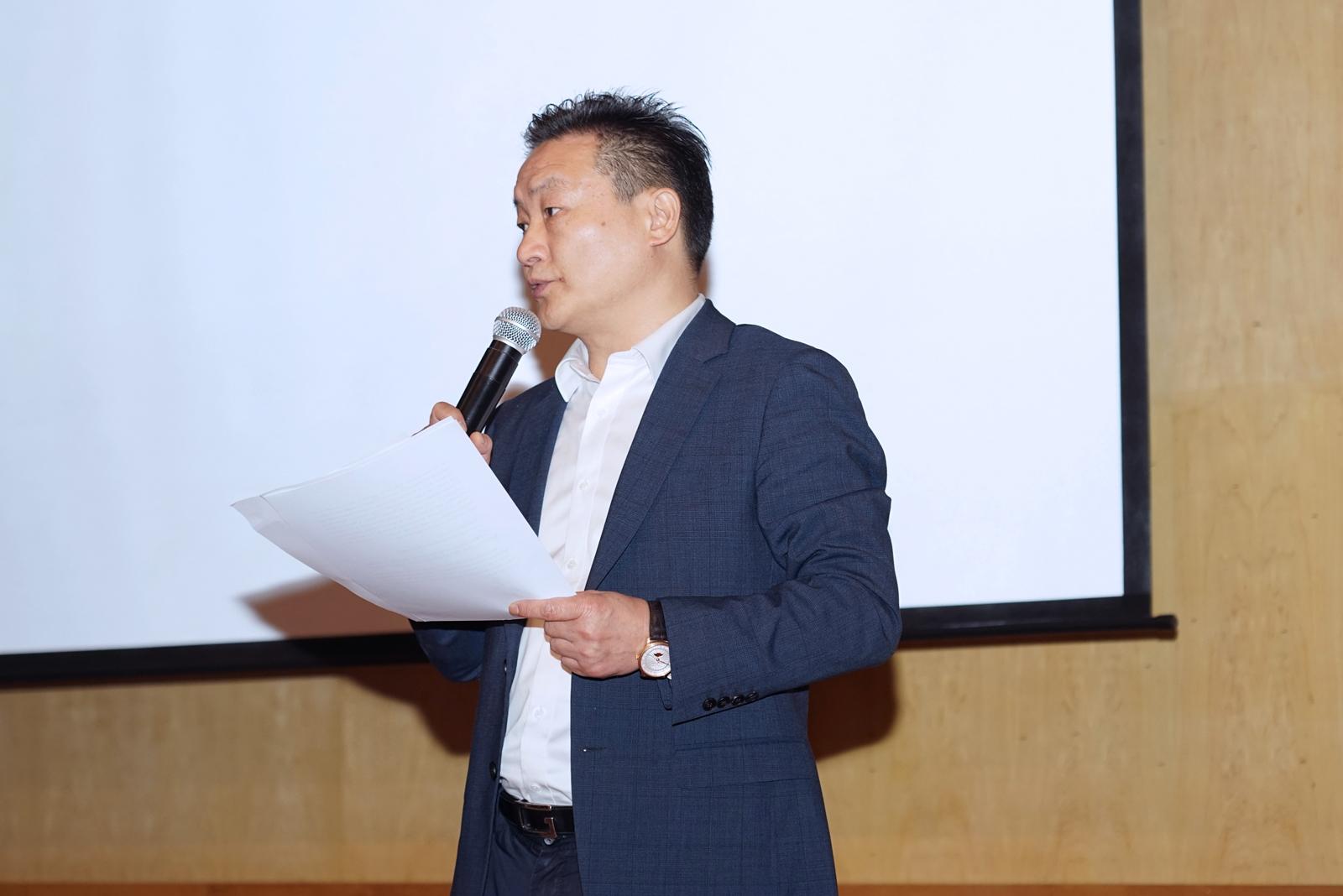 中漕创业孵化器董事长周原代表主办方致辞。