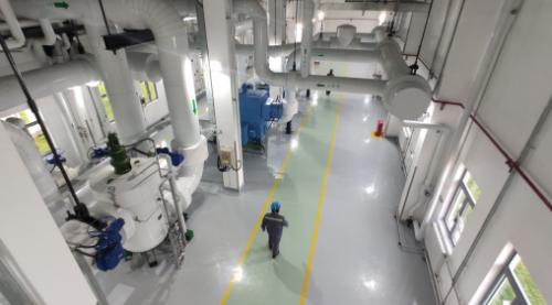 图为海阳核能供热换热首站。