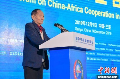 袁隆平:杂交水稻在非洲表现突出比当地品种最高增产300%