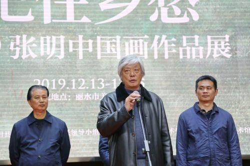 本次展览主展人、复旦大学上海视觉艺术学院教授张明作答谢发言。沈继平 摄