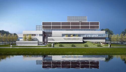 图为上海立信会计金融学院浦东新校区效果图