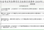 山東公布考試考務費項目及標準目錄清單