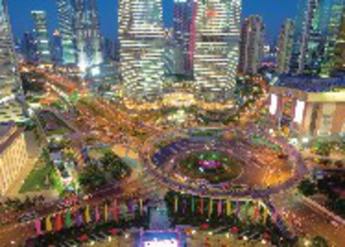 上海陆家嘴二层步行连廊。上海陆家嘴集团/供图