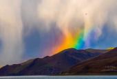 如梦似幻!拉萨彩虹瀑布来了