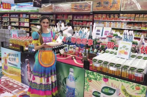 中欧班列(武汉)运输的外国商品进驻国内超市。汉欧国际/供图