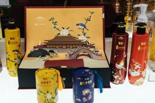 ▲上海制皂有限公司与故宫达成战略合作,推出了一系列联名产品。(穆功/摄)