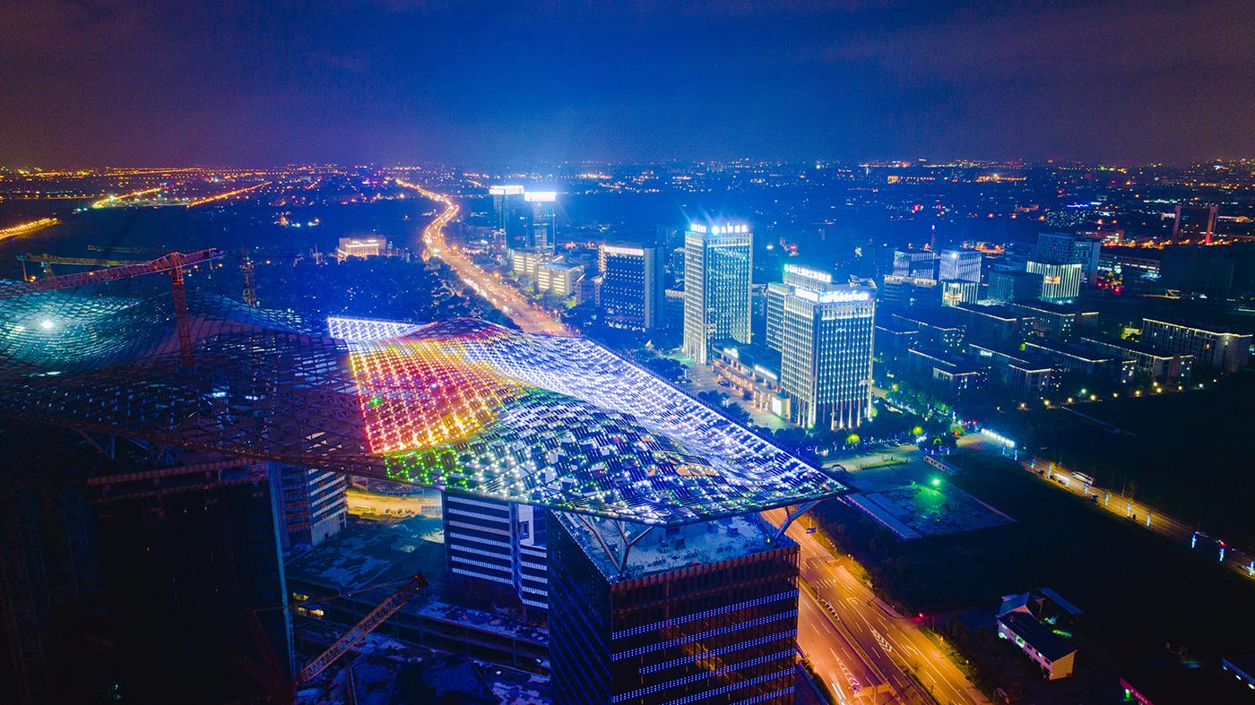 光带——G60科创云廊夜景。姜辉辉摄